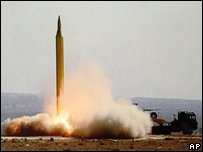 A Fajr-3 missile being fired by Iran