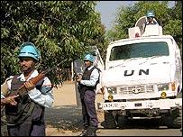 Peacekeepers in Lubumbashi