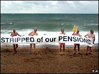 Protesting pensioners