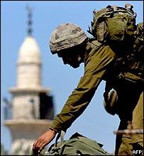 Israeli soldier in Maroun al-Ras, Lebanon