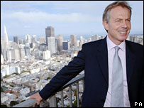 Tony Blair in San Francisco