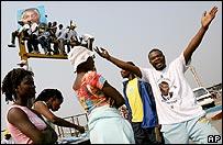 Simpatizantes del presidente Kabila en las elecciones.