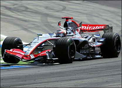Kimi Raikkonen leads into the first corner