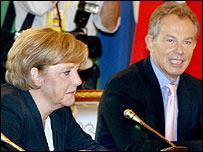 Angela Merkel and Tony Blair
