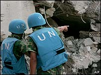 UN soldiers search for bodies under rubble in Qana