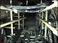 Fire damage at the sub-station