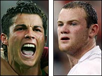 Ronaldo and Rooney clashed at the World Cup