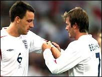 John Terry and David Beckham