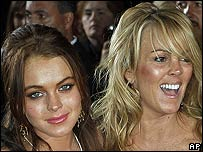 Lindsay Lohan with her mother Dina