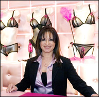 Jacqueline Gold in an Ann Summers store