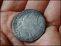 The 'king's shilling', showing William III