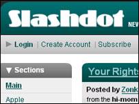 Slashdot homepage, OSTG
