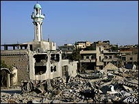 Qana tras el ataque israelí