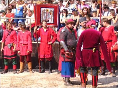Участники военно-исторического фестиваля в Выборге