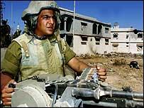 Israeli tank soldier