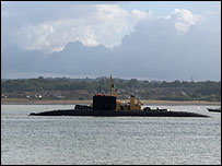 HMS Tireless courtesy of BBC News user Derek Patz