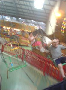 David Gregory sent in this action shot of his son William enjoying the chair ride at Folly Farm