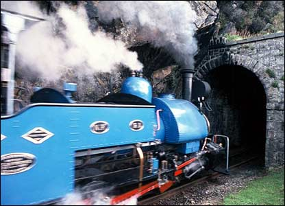 A Darjeeling-Himalaya locomotive entering Garnedd tunnel on the Ffestiniog Railway (Bob Gartside)