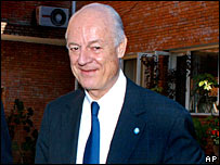 Staffan de Mistura, head of the UN team