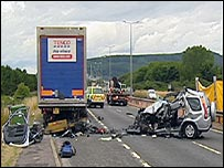 Crash on A9 - BBC Scotland news website
