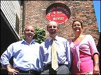 From left: Stuart, George and Jacqui Bateman