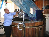 Stuart Bateman in the Victorian brew house