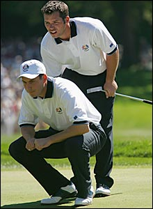 David Howell (left) and Paul Casey
