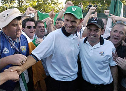 Padraig Harrington (left) and Paul McGinley