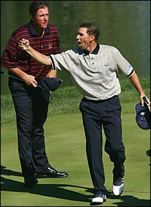 Phil Mickelson (left) and Sergio Garcia