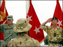The Kandahar ceremony in which responsibility was handed over the Nato troops