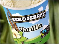 Ben & Jerry's Fairtrade vanilla ice cream