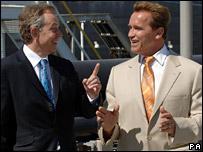 Tony Blair and Arnold Schwarzenegger