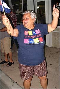 Edelia Reynoso, manifestante en Calle Ocho de Miami