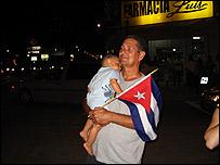 Juan Menéndez, manifestante en Calle Ocho de Miami