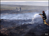 Firefighters tackle Ilkley Moor blaze