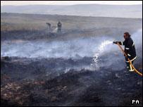 Firefighters tackle Ilkley Moor blaze