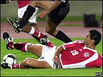 Lebanese footballer Mouhammed al-Reda