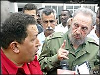 Hugo Ch�vez y Fidel Castro