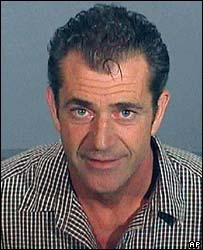 Mel Gibson booking photo