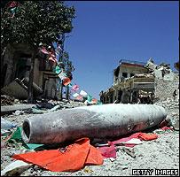 Missile on Bint Jbeil street