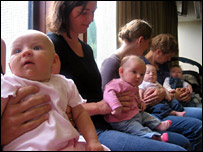 Mothers and babies at the board meeting