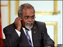 PNG Prime Minister Sir Michael Somare (file photo)