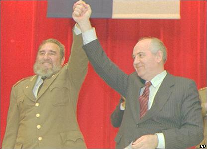 Fidel Castro y Mijail Gorbachov.