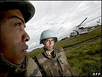 UN peacekeepers in eastern DR Congo