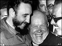 Castro y Khrushchev.