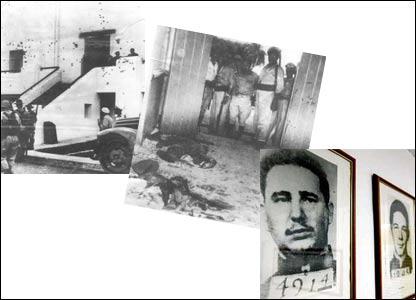 Asalto al cuartel Moncada, represi�n de sobrevivientes del ataque, Fidel y Ra�l Castro.