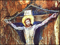 Christ's crucifixion painting