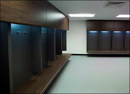 The new players' changing rooms