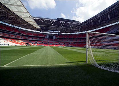 The new pitch's virgin turf