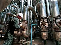 Iranian petrochemical worker